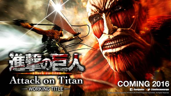 Koei Tecmo Europa localizará Shingeki no Kyojin (Attack on Titan) para PlayStation 4